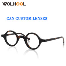 Acetate Round Glasses Men Retro Glasses Frames Fake Glasses myopia Hyperopia Clear Lens Optical Spectacle Prescription glasses cheap WOLHOOL WOMEN Solid Eyewear Accessories Y-WOA0044 Fake glasses lenses Prescription glasses lenses For myopia Hyperopia