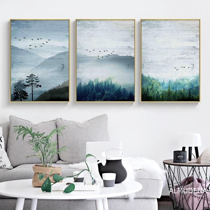 Prints Forest Landscape Canvas Painting