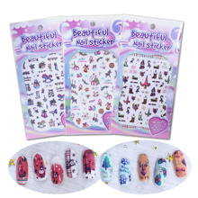 10pcs Adhesive Slider Nail Decals Christmas Theme Nail Art Sticker 3D Manicure Accessory Nail DIY Craft Wraps Foil Xmas Gift nail sticker starry sky nail sticker set christmas halloween theme design nail decals wraps sliders nail art manicure