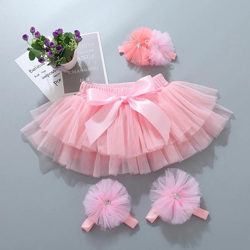 skirt tutu photo shoot special occasion dress embellished flower bow Watermelon Pink Pettiskirt newborn infant baby toddler little girl