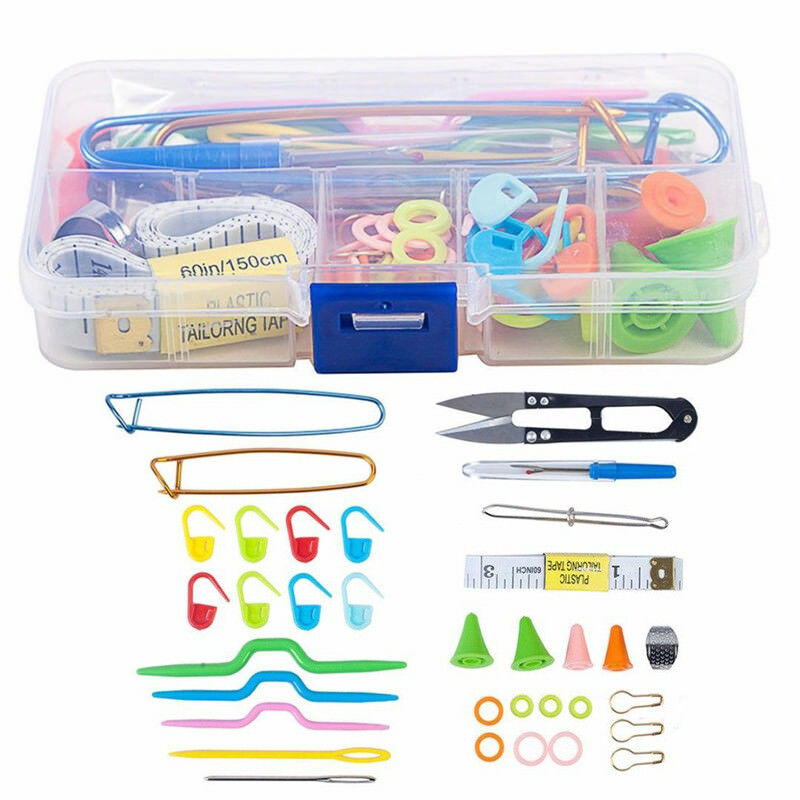 1 Box Knitting Tool Accessory Kit Sewing Knitting Crochet Accessories Supplies Needles Hook DIY Knitting Kit With Case Lots
