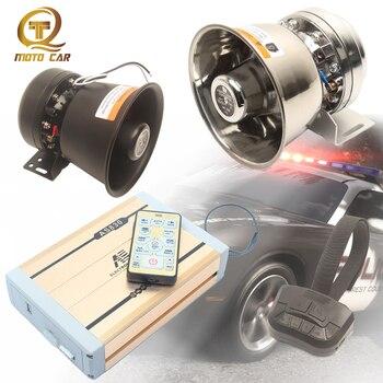 Alarma Universal de vehículo 600W altavoz bocina 12 Tono de sonido MP3 sirena de fuego de policía sistema electrónico de bocina de micrófono 12V megáfono automático