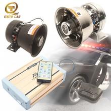 Universal Vehicle Alarm 600W Loudspeaker Horn 12 Sound Tone MP3 Police Fire Siren Electronic MIC System 12V Auto Megaphone