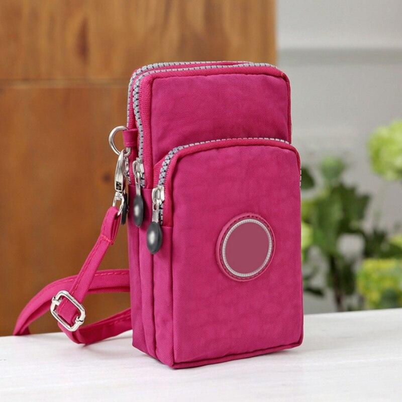 Hot Sale Wholesale Fashion Zippers Mobile Phone Bags Coin Pocket Women Small Shoulder Bags Crossbody Bags Wrist Handbag