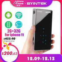 BYINTEK OVNI P9 (P8I) Android 7,1 OS Pico bolsillo HD Micro PORTÁTIL WIFI Bluetooth Mini LED, proyector DLP con batería