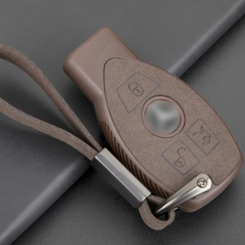 Leather TPU TPU Car <font><b>Key</b></font> Case For Mercedes Benz W203 W204 <font><b>W211</b></font> CLK C180 E200 AMG C E S Class Smart <font><b>Remote</b></font> Fob Cover Protector Bag image