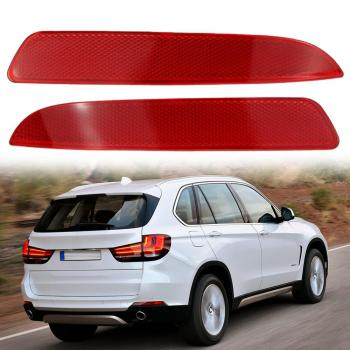 2PCS Car Styling Left Right Rear Bumper Fog Light Fog Lamp Reflector For BMW X5 E70 2007 2008-2009 image