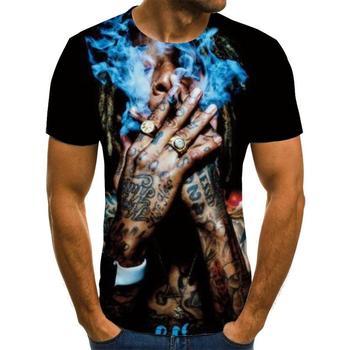 Summer 2020 men's shirts, motorcycle T-shirts, punk clothing, retro mechanical 3D interesting men'