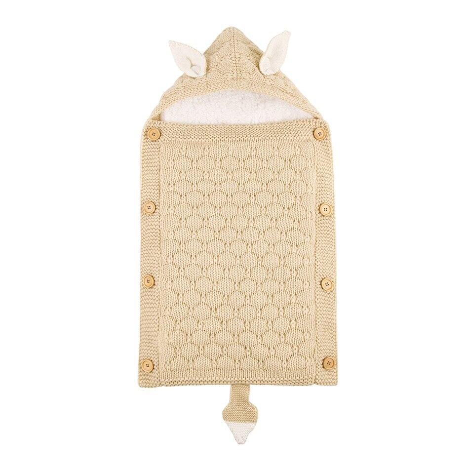 Baby Envelope Sleeping Stroller Bag Knit Newborns Swaddle Toddler Slaapzak Kids Acrylic Sleepsack Infant Knitted Sleep Bed  Sack