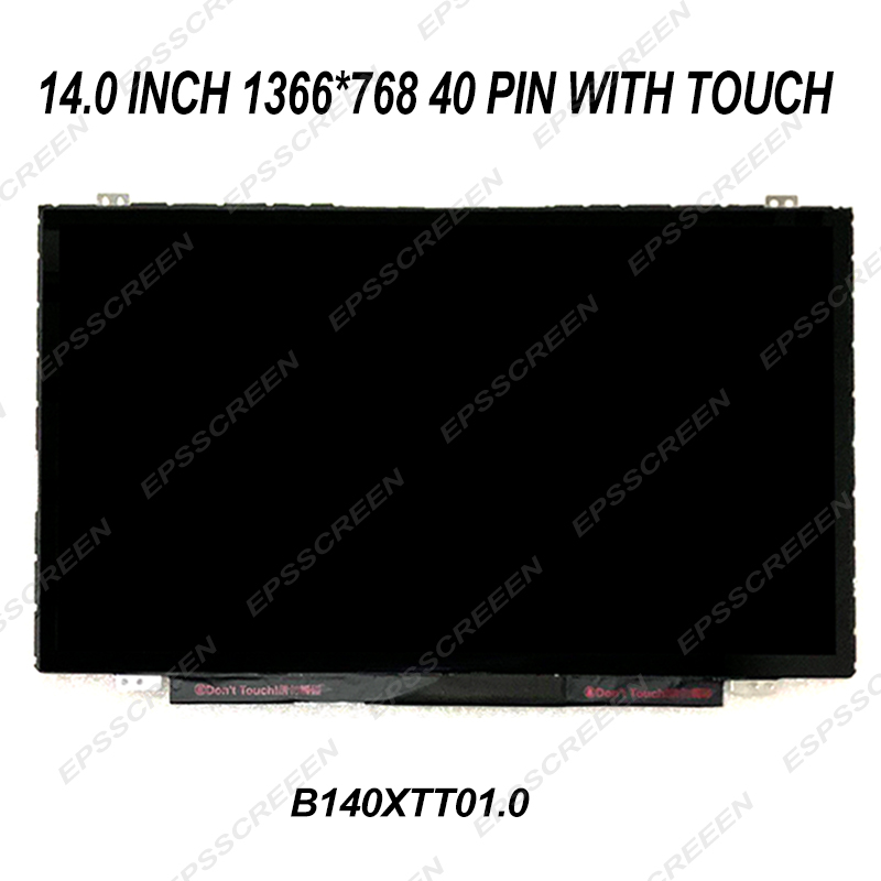 new 14.0 inch LED LCD screen replace for HP TOUCHSMART 14-N055SA 14-b109wm with touch digitizer panel 40 pin display MATRIX