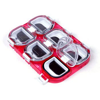 6 siatki pudełko rybackie magnetyczne wodoodporne magnetyczne akcesoria wędkarskie akcesoria schowek pudełka wędkarskie akcesoria tanie i dobre opinie CN (pochodzenie) Other Mini Fishing Storage Box