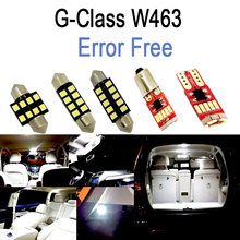 13pc LED footwell bulb + LED Interior dome trunk Light Kit For Mercedes Benz G class W463 G500 G550 G350 G63 AMG G65 (2012-2016)