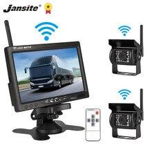 Jansite – moniteur sans fil TFT pour voiture, 7 pouces, caméra de recul pour camion, système de stationnement, caméra arrière, objectif, tension 12-24V