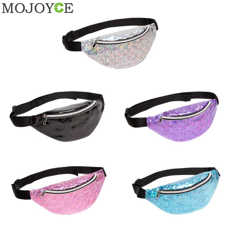 Laser Waterproof Waist Packs Crossbody Bags Women Fanny Pack Female Belt Bag Sport Waist Packs Chest Phone Pouch Wallet