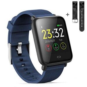 Image 1 - Montre intelligente Q9 pression artérielle fréquence cardiaque moniteur de sommeil Bracelet IP67 étanche Sport Fitness Trakcer montre hommes femmes Smartwatch