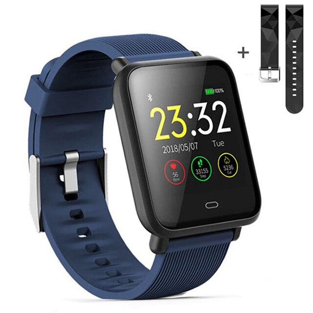 Montre intelligente Q9 pression artérielle fréquence cardiaque moniteur de sommeil Bracelet IP67 étanche Sport Fitness Trakcer montre hommes femmes Smartwatch