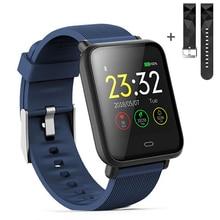 スマート腕時計 Q9 血圧心拍数睡眠モニターブレスレット IP67 防水スポーツフィットネス trakcer 腕時計メンズ女性スマートウォッチ
