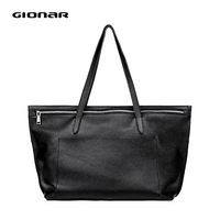 GIONAR Genuine Leather Tote Bags for Women Big Work Bag Premium Real Cow Leather Shoulder Bag Female Large Purses And Handbag