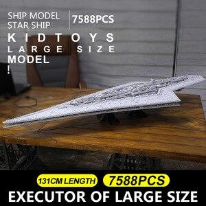 Image 2 - עובש מלך 13134 כוכב צעצועי מלחמת Execytor סופר כוכב משחתת דגם ערכת בניין בלוקים לבני תואם MOC 15881 מתנות