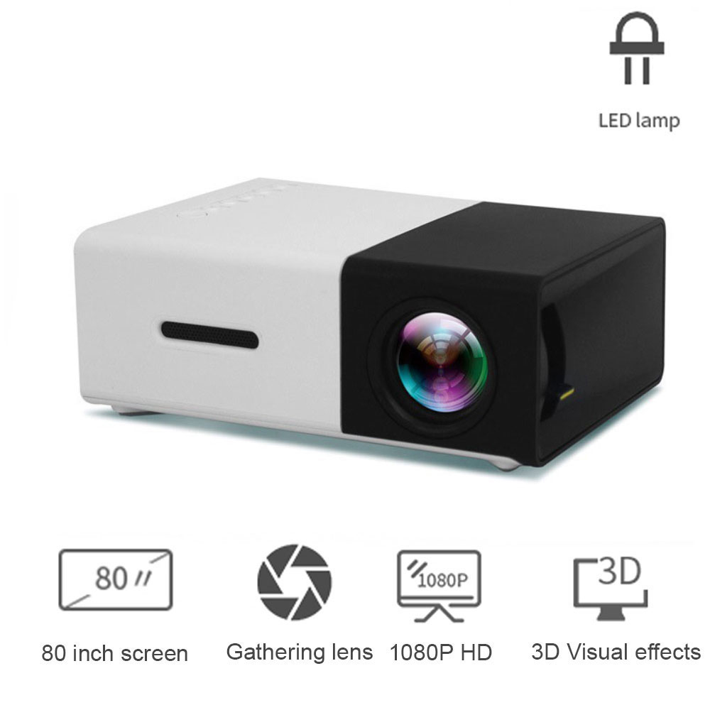 Amorno YG300 <font><b>LED</b></font> Mini Projector 320x240 Pixels Supports 1080P HDMI USB Audio Video Beamer Portable Projector Home Media Player image