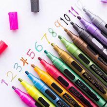 12 цветов водонепроницаемый автомобильных шин протектора CD металлический маркер с перманентной краской ручки