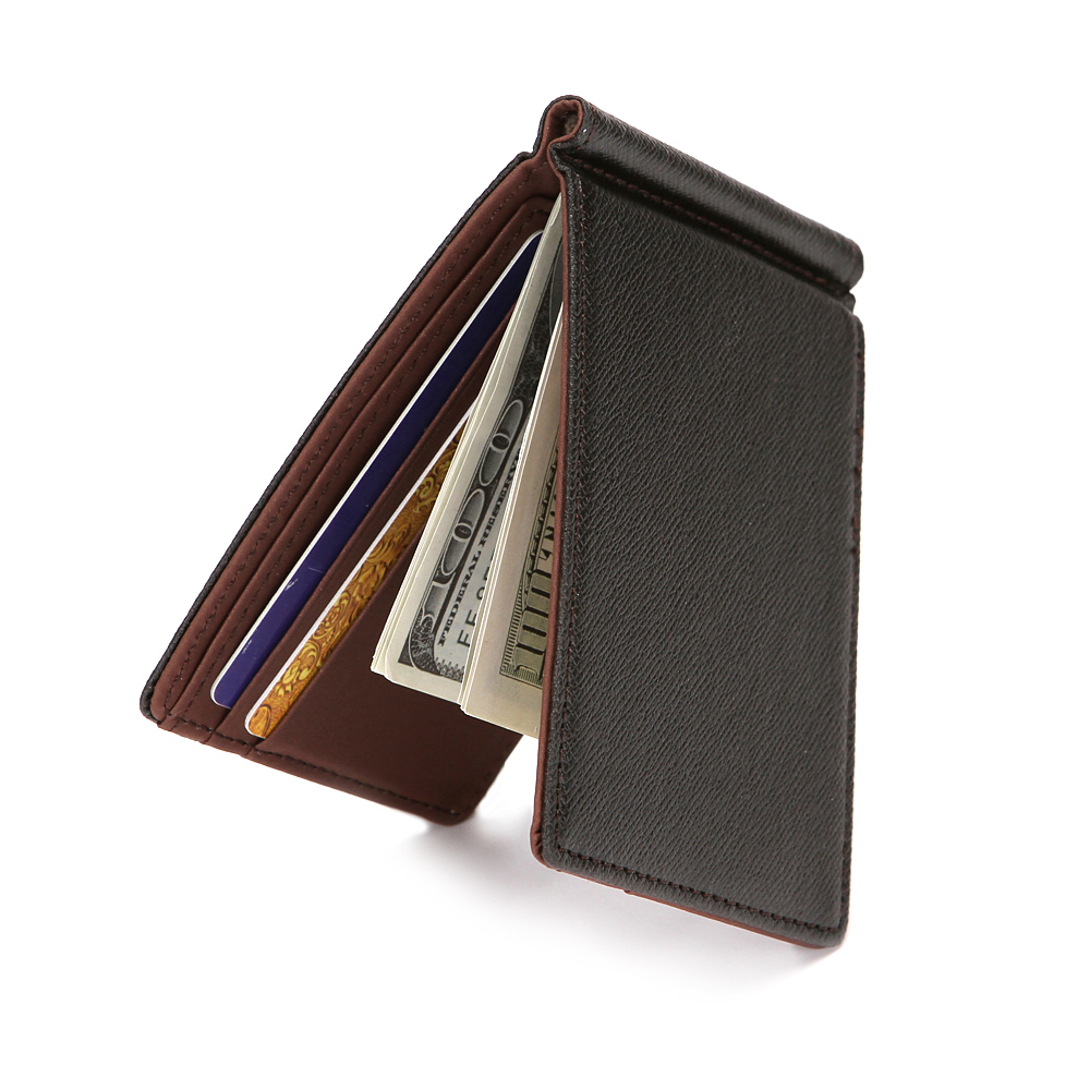 Brand Men Wallet Short Skin Wallets Purses PU Leather Money Clips Sollid Thin Wallet For Men Purses