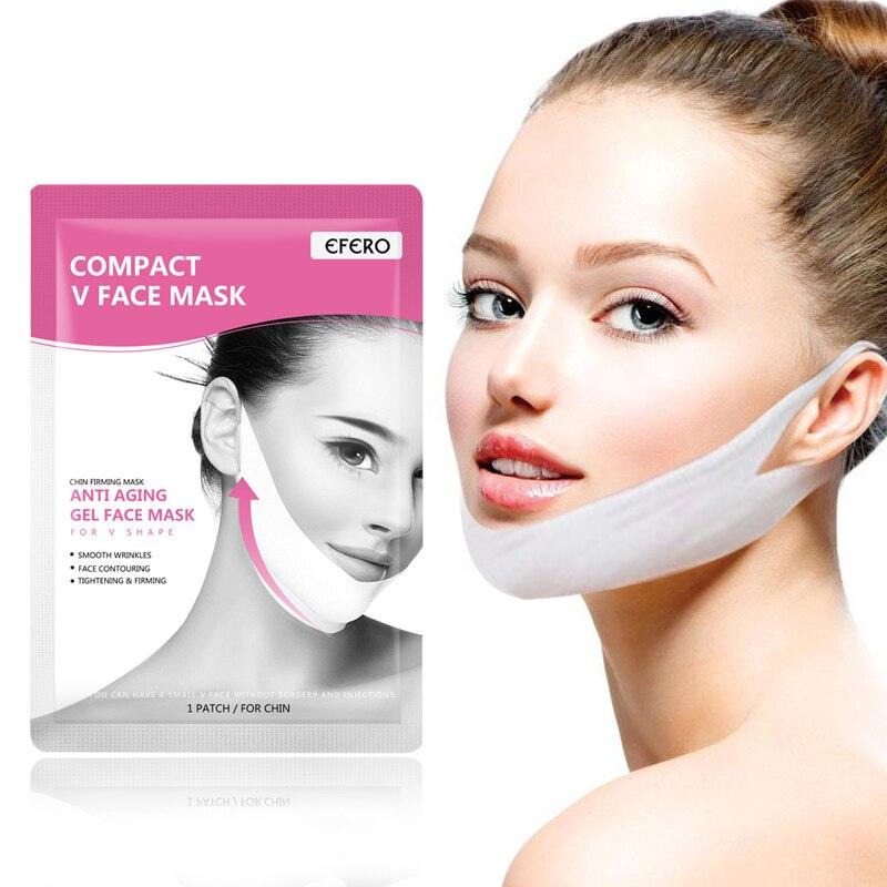 Women Cheek Face Mask V Face Lifting Slimming Smooth Wrinkles Cream Face Neck Lift Up Peel-off Masks Bandage Skin Care