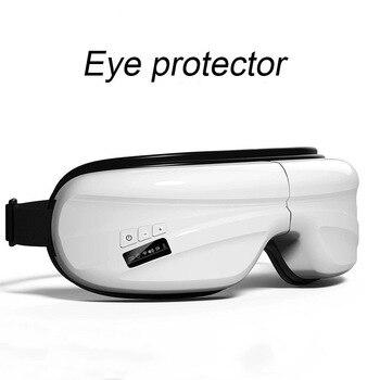 Pneumatic Eye Massager Rechargeable Far-infrared Heating Eye Massager Vibration Hot Compress Acupressure Protect Eye Instrument