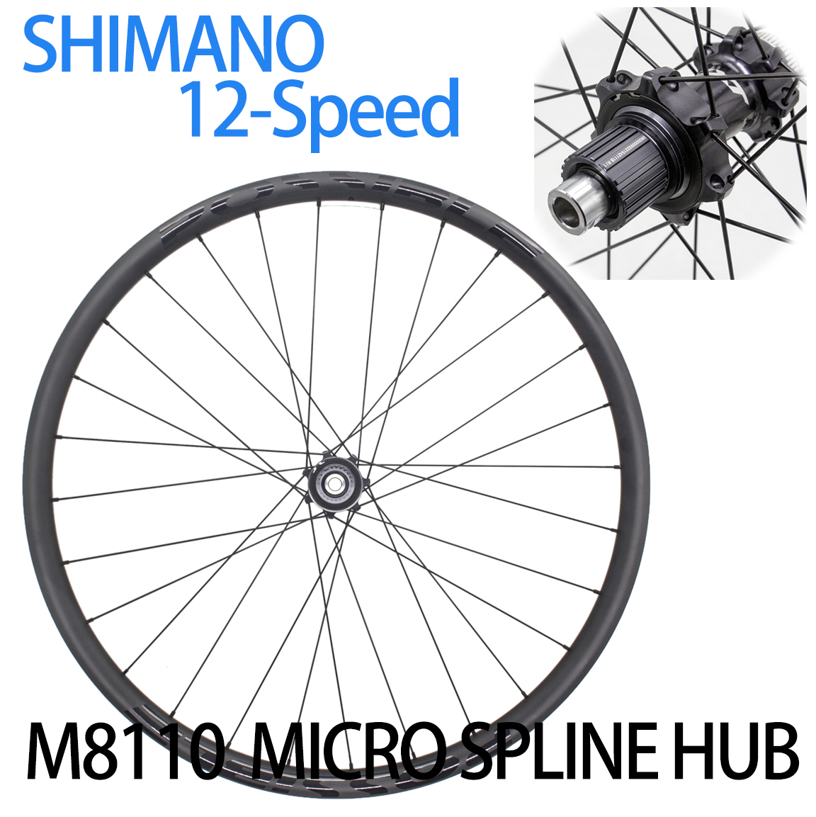 "Carbon MTB Asymmetric rim 29er hookless tubeless 29/"" mtb wheel rim external 33mm"