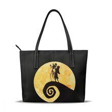 Women Handbags Jack Skellington Tote-Bag Large Print Teen