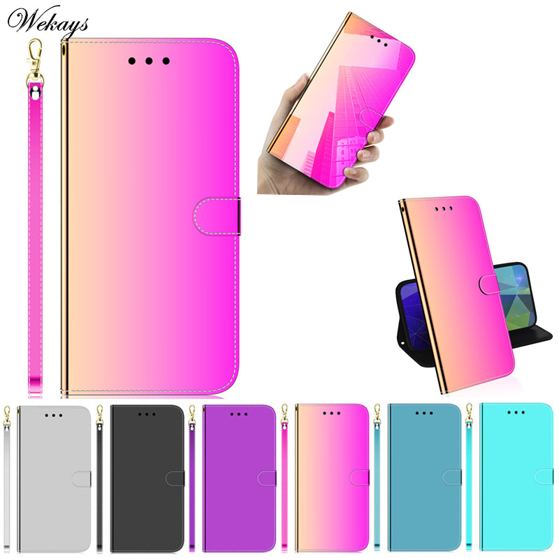 Cover Coque For LG K50 Q60 Mirror Leather Stand Fundas Case For LG Q60 K50 K 50 Q 60 Protective Shell Covers Cases LGK50 LGQ60