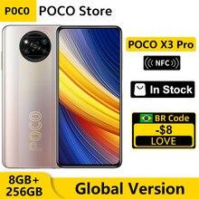 POCO X3 Pro – Smartphone Snapdragon 256, Version globale, 8 go 860 go, écran 6.67 pouces, 120Hz, DotDisplay, NFC, batterie 5160mAh, Charge 33W, caméra AI Quad