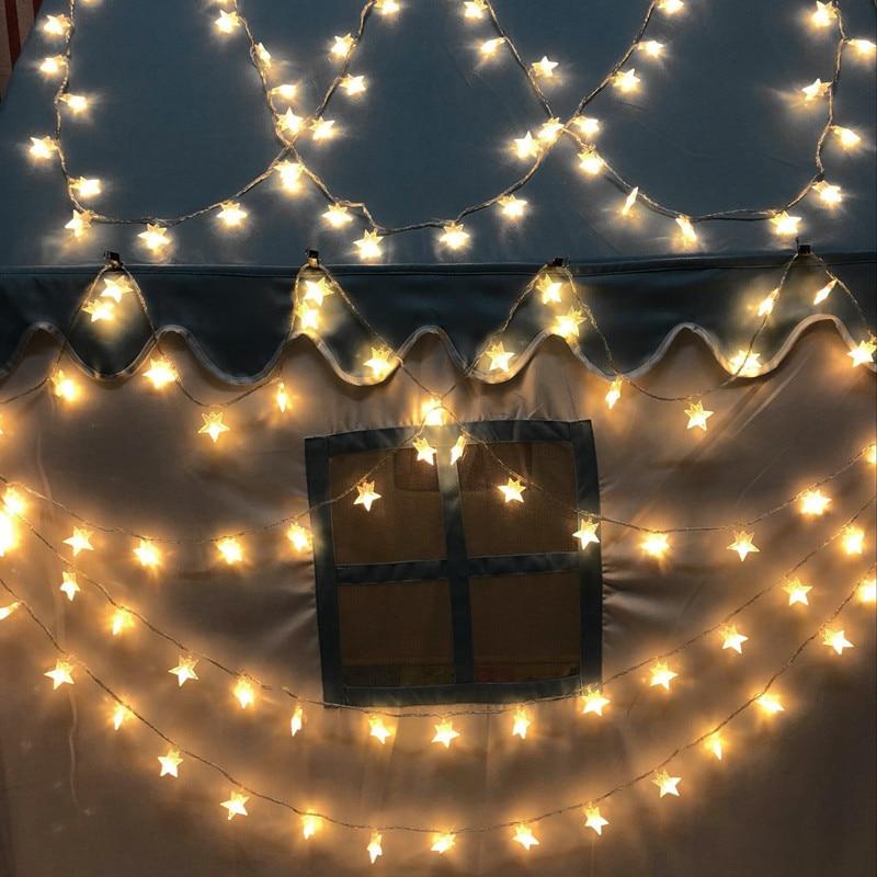 festa de férias casamento luzes de fadas decorativas