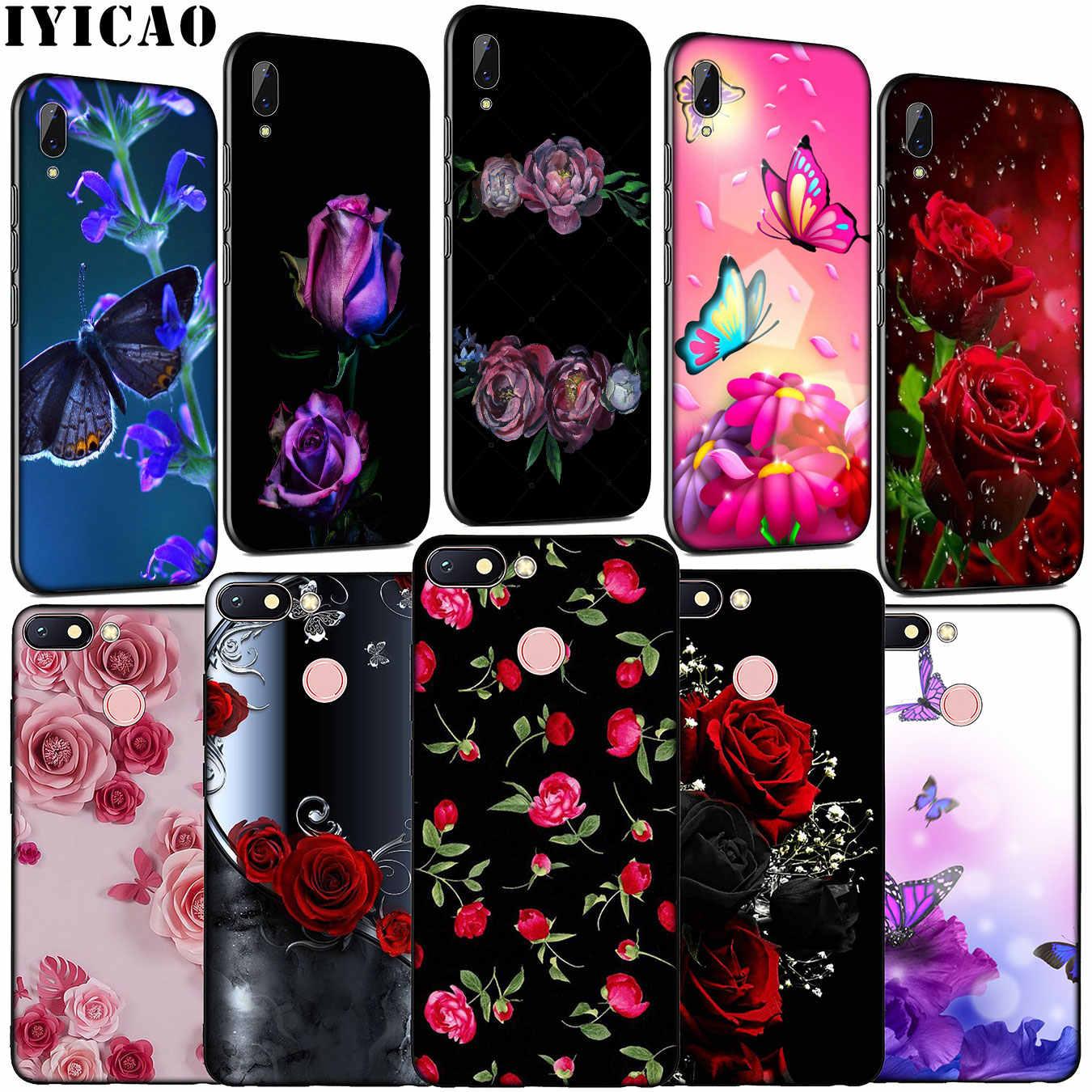Flor roja Rosa colorido de silicona suave funda de teléfono para Xiaomi Redmi Note 8 8T 8A 7 7A 6 6A 5 5A K30 K20 Pro ir S2 cubierta