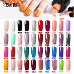 ROSALIND gel nail polish Neon colors for nails art UV LED gel varnish with base top coat for nail extention beauty