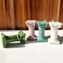 Круглая колонна форма ароматическая свеча формы креативный цилиндр штукатурка силиконовая форма для ручной работы свечи формы