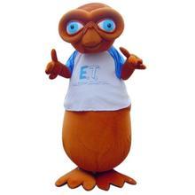 Per la vendita di E.T. Alien Freddo del fumetto Della Mascotte del Vestito Operato Dal Costume di Carnevale di Halloween del partito Outfit per le prestazioni evento cosplay