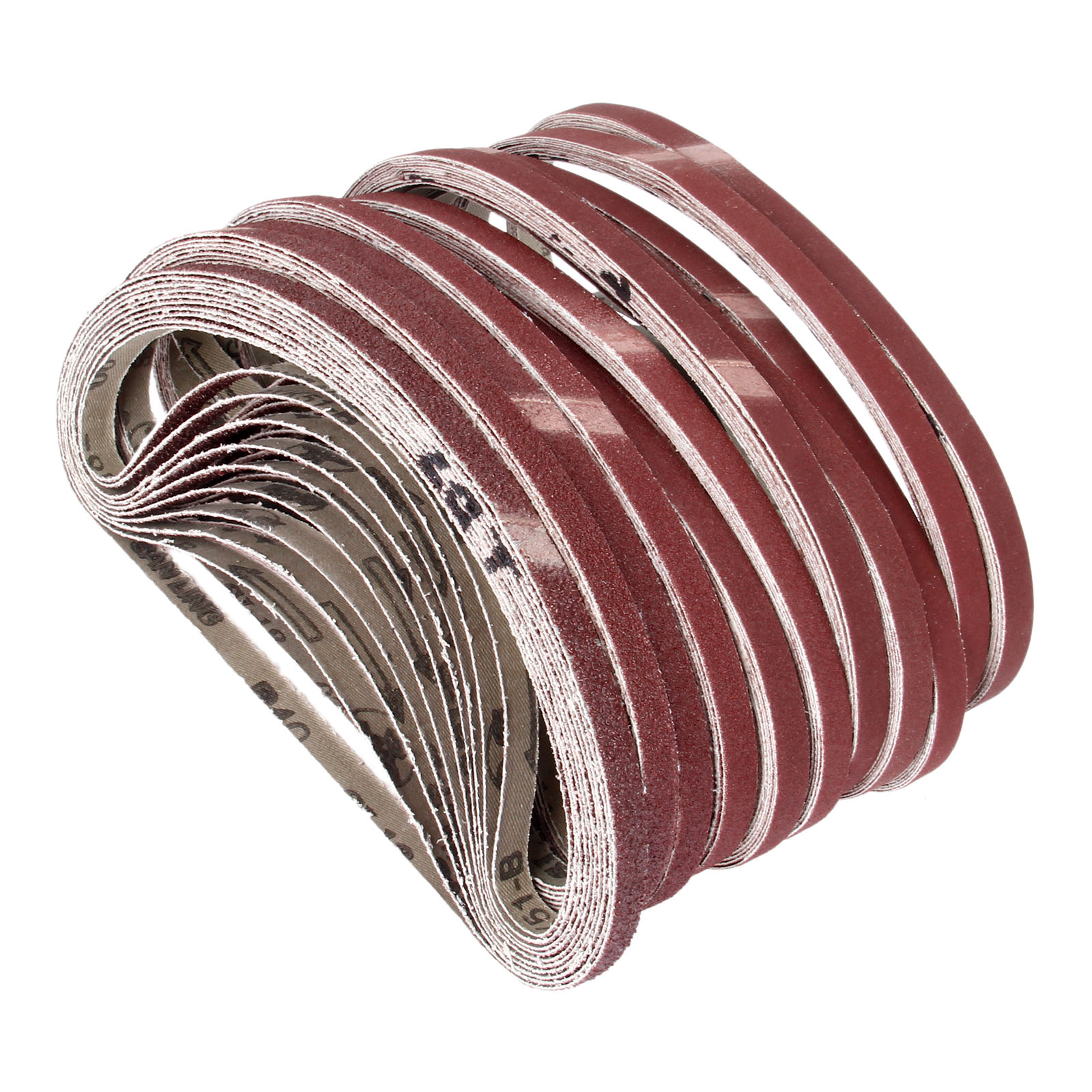 10Pcs 9*533mm Abrasive Sanding Belts Sanding Band 21*0.35inch Sanding Screen With Grit 40 To 600 Soft Cloth For Belt Sander