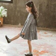 Dress Girls Big Bow Casual Plaid Clothing 6-14Y