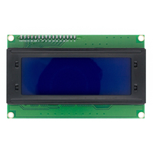 Frete grátis 5 pçs 20x4 módulos lcd 2004 módulo lcd com led azul backlight branco personagem
