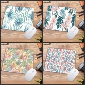 Image 1 - Mairuige tapis de souris pour Gamer, motif Tropical, feuilles et fleurs, pour clavier de bureau, tablette, pour ordinateur, jeu Lol, Csgo