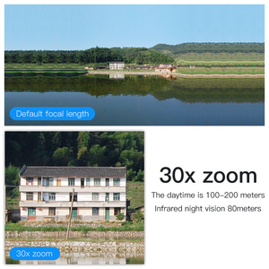 Image 4 - 30X التكبير PTZ الأمن كاميرا IP 1080P HD كاميرا لاسلكية واي فاي في الهواء الطلق مقاوم للماء كشف الحركة الأشعة تحت الحمراء للرؤية الليلية Onvif CCTV كام