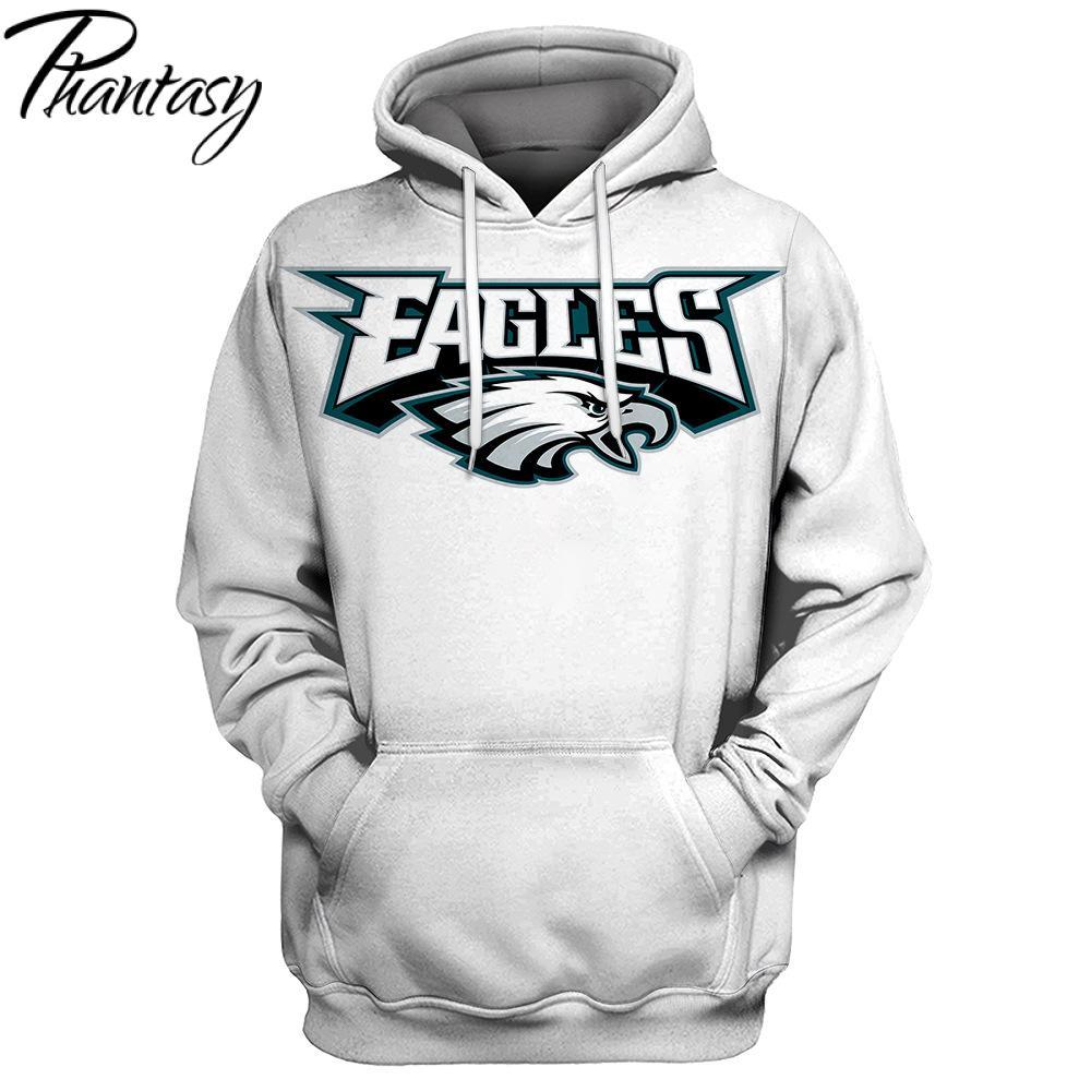 Phantasy 2020 American Football Hoodie Philadelphia Eagle Olive Team Print Man's Suit Hoodies And Sweatshirt