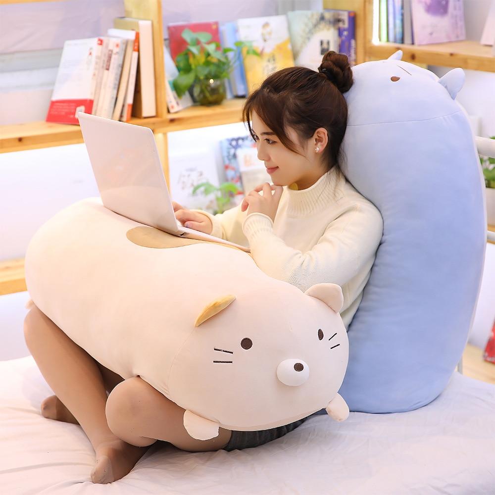 60/90cm Giant Corner Bio Pillow Japanese Animation Sumikko Gurashi Plush Toy Stuffed Soft Cartoon Kids Girls Valentine Gifts