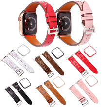 diamond leather Bracelet strap+cases For apple watch 4 44mm 40mm Protector Bumper Case Cover iWatch series 3 2 1 38mm 42mm