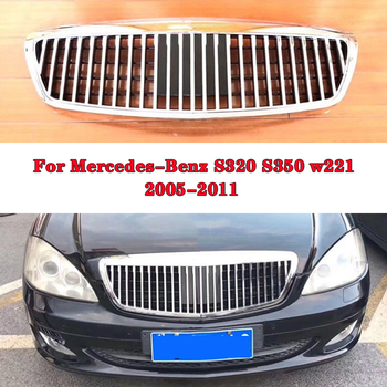 Car styling Middle grille for Mercedes-Benz Mercedes S320 S350 w221 Maybach ABS plastic  front grille vertical bar print bar mercedes benz