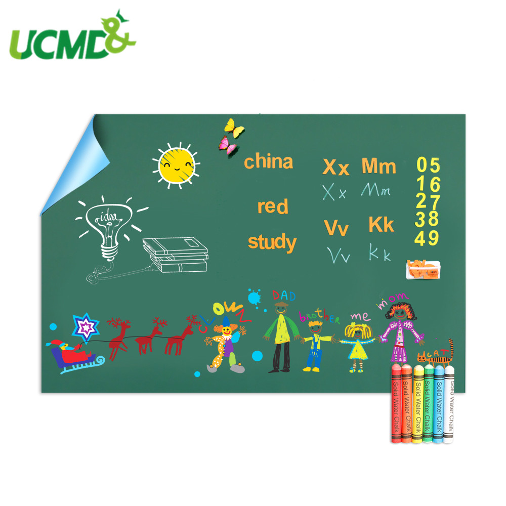 Chalk Green Board Removable Teaching Drawing Blackboard Children Home Education Room Decor Wall Sticker Office School Supplies