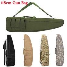 98cm / 118cm צבאי ירי ציד רובה תיק צלף רובה אקדח מקרה טקטי אקדח תיק חיצוני Airsoft תיק כבד אקדח לשאת תיק