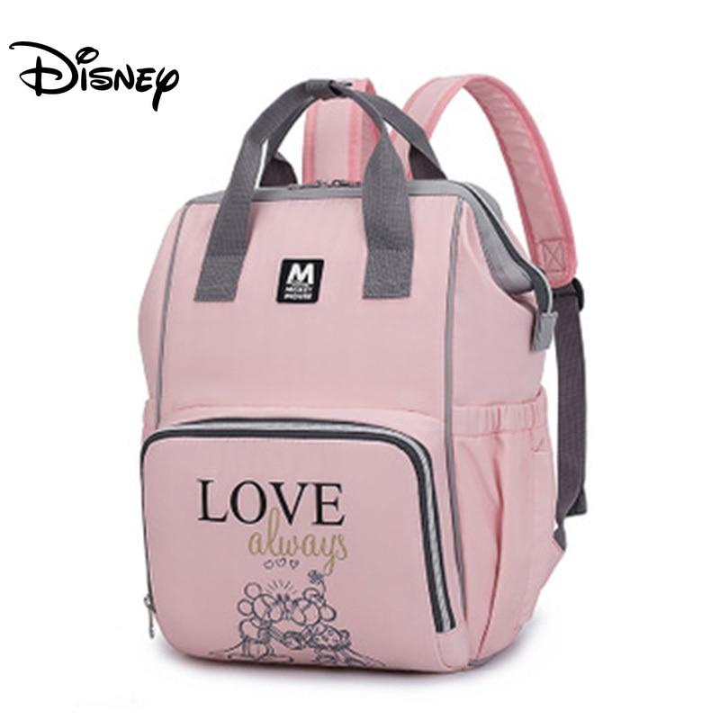 Disney Baby Diaper Bag Waterproof Zipper Backpacklarge Capacity Mom Stroller Bag Mummy Maternity Bag Mickey Multifunctional Bag