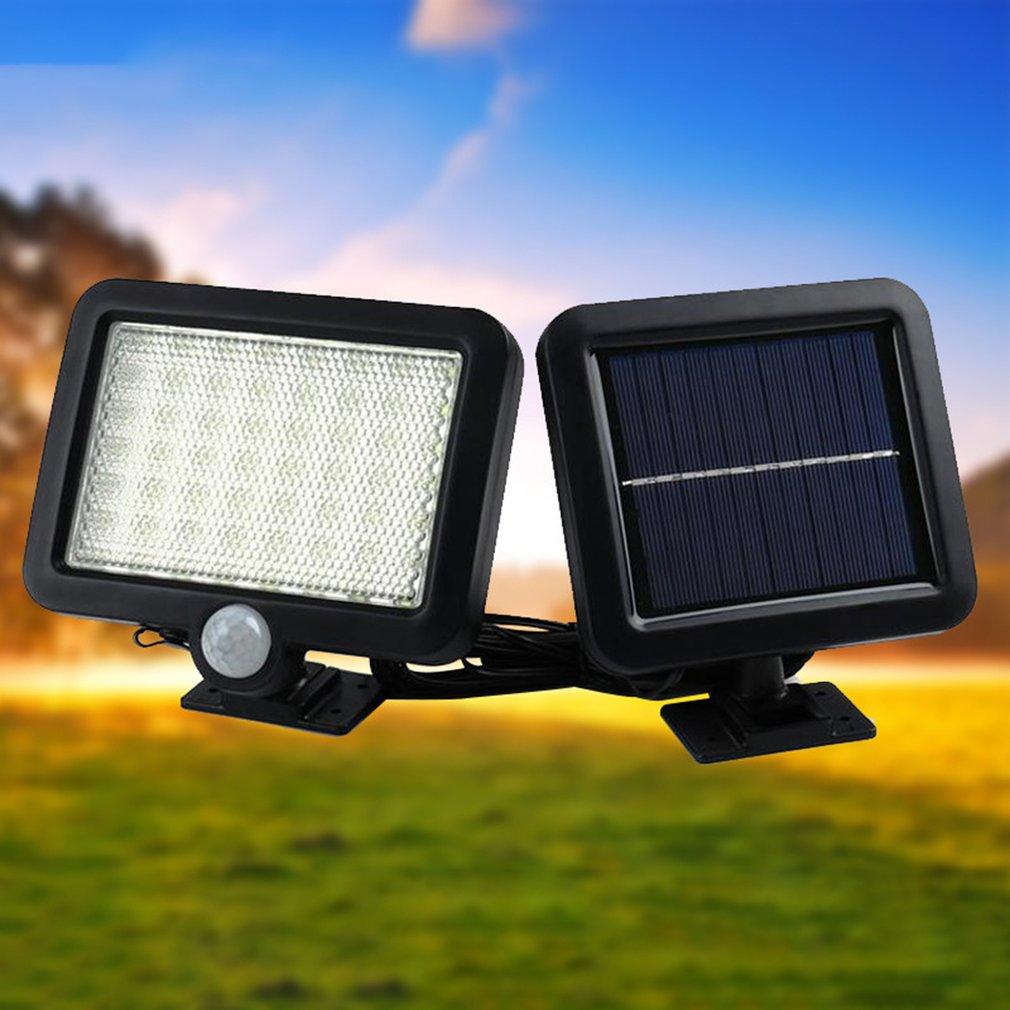 100 leds de energia solar ao ar livre à prova dwaterproof água jardim cerca pátio segurança pir infravermelho sensor movimento luz montado na parede lâmpada noite